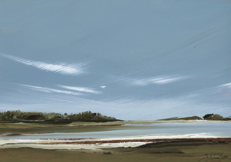 Intrigue, Sunken Meadow, North Eastham, oil on copper, 5 x 7 inches   SOLD