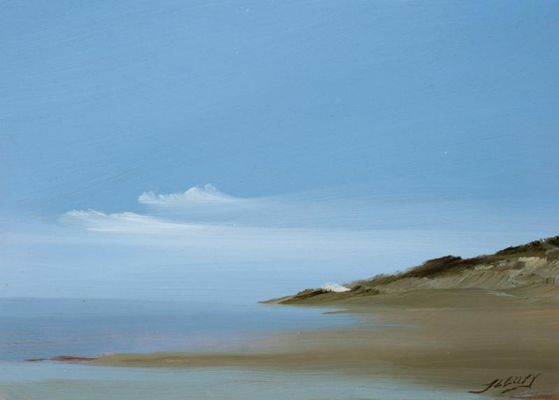 Lecount Hollow, Wellfleet, oil on copper, 5 x 7 inches, $600