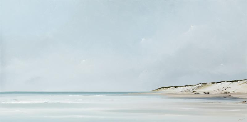 Longview II, Backshore, Truro, oil on canvas, 18 x 36 inches  SOLD