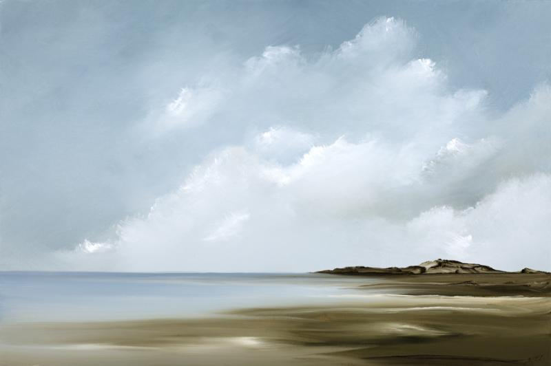 Motion, First Encounter, Eastham, oil on canvas, 20 x 30 inches, $3,000