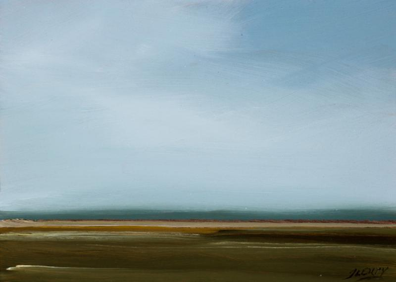 Overtones, Close Encounter, Eastham, oil on copper, 5 x 7 inches, $600