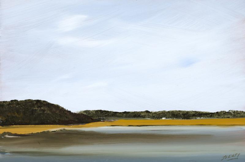Return, Herring River Estuary, Wellfleet, oil on copper, 6 x 9 inches, $900