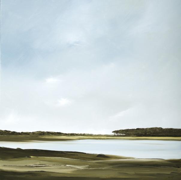 Sanctuary, Fox Island Marsh, Wellfleet, oil on canvas, 24 x 24 inches, $3,000