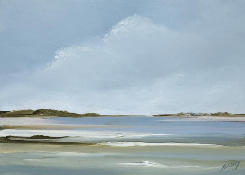 Sands, Pleasant Bay, Chatham, oil on copper, 5 x 7 inches   SOLD