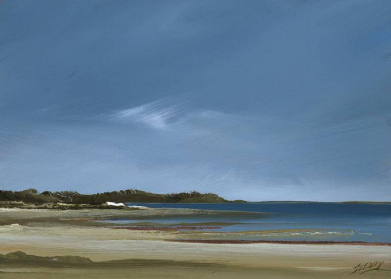 Stance, First Encounter, Eastham, oil on copper, 5 x 7 inches  SOLD