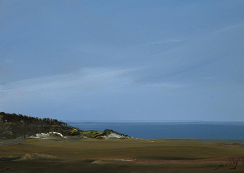 Tones, Herring Cove, Provincetown, oil on copper, 5 x 7 inches  SOLD