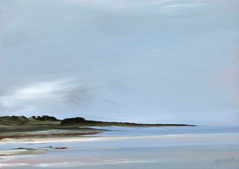Upwind, First Encounter, Eastham, oil on copper, 5 x 7 inches  SOLD