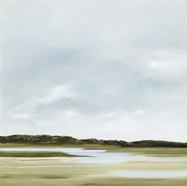 Wanderings, Blackfish Creek, Wellfleet, oil on canvas, 18 x 18 inches  SOLD