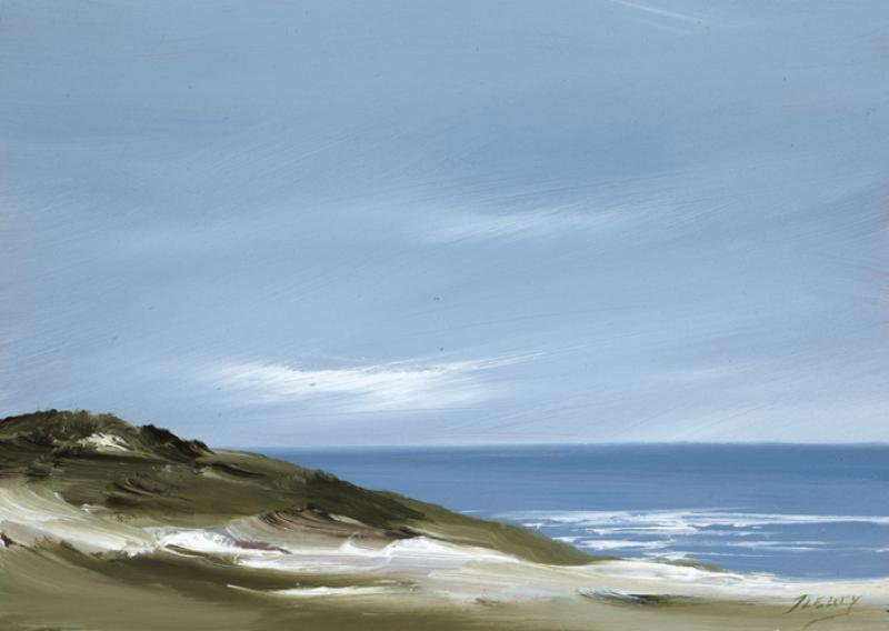 Whitecrest, Back Shore Wellfleet, oil on copper, 5 x 7 inches   SOLD