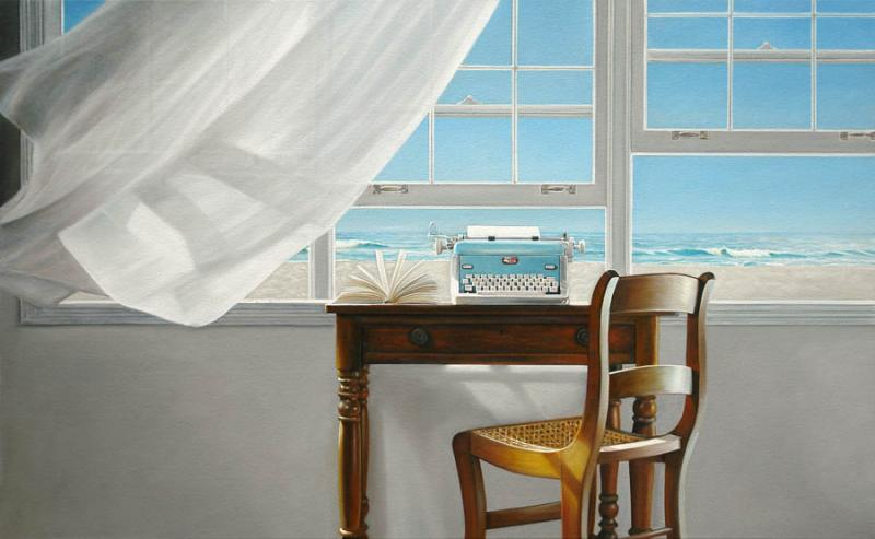 Channeling Hemingway, oil on canvas, 30 x 48 inches  SOLD