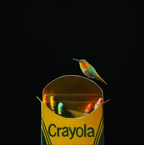 Crayola #5, oil on canvas, 16 x 16 inches   SOLD