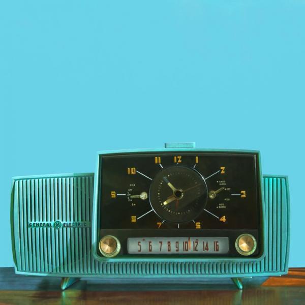 Clock Radio, oil on cradled hardboard panel, 24 x 24 inches  SOLD