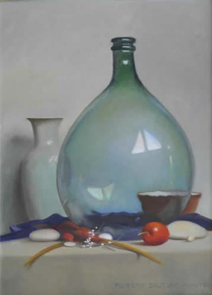 Arrangement with a Large Demi-John, oil on canvas, 22 x 16 inches  SOLD