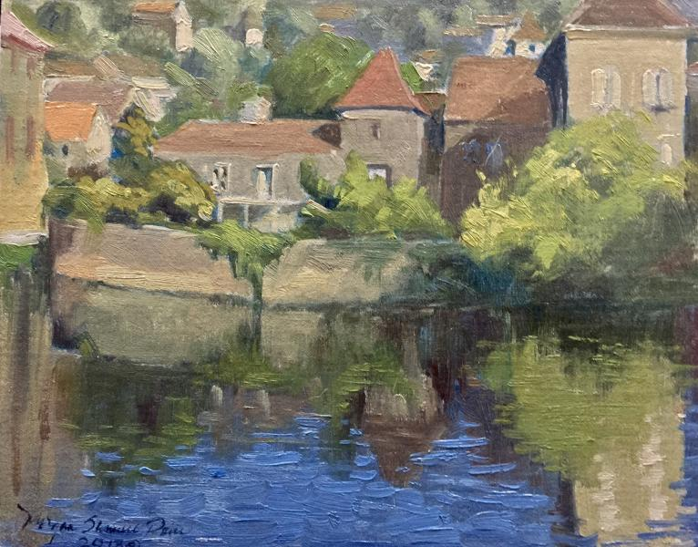 Lot river in puy leveque