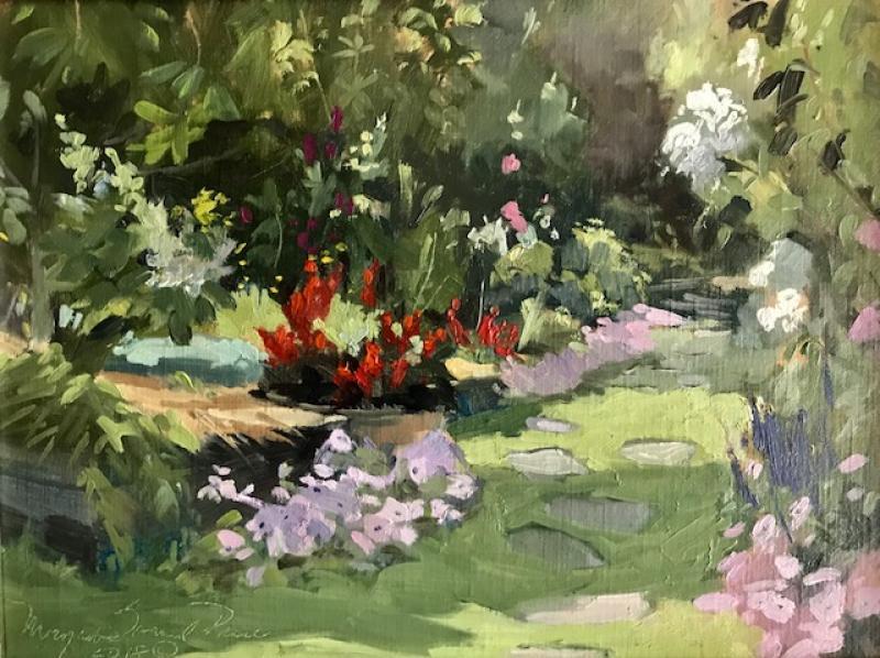 Visual Pleasure, oil on canvas, 9 x 12 inches, $1800