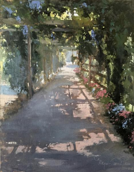 Wisteria, oil on canvas, 16 x 20 inches  SOLD