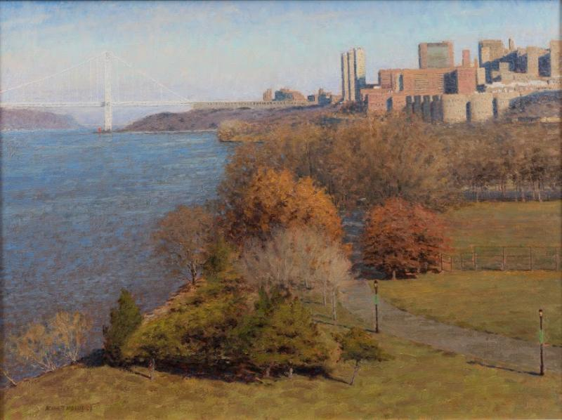 Riverside Park, oil on canvas, 18 x 24 inches, $2,800