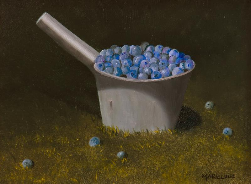 Tin of Blues, oil on panel, 6 x 8 inches  SOLD