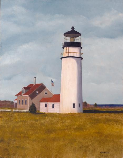 Highland Light, oil on panel, 14 x 18 inches  SOLD