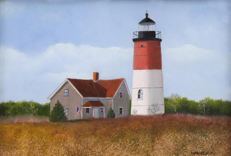 Nauset Light , oil on panel, 5 x 7 inches  SOLD