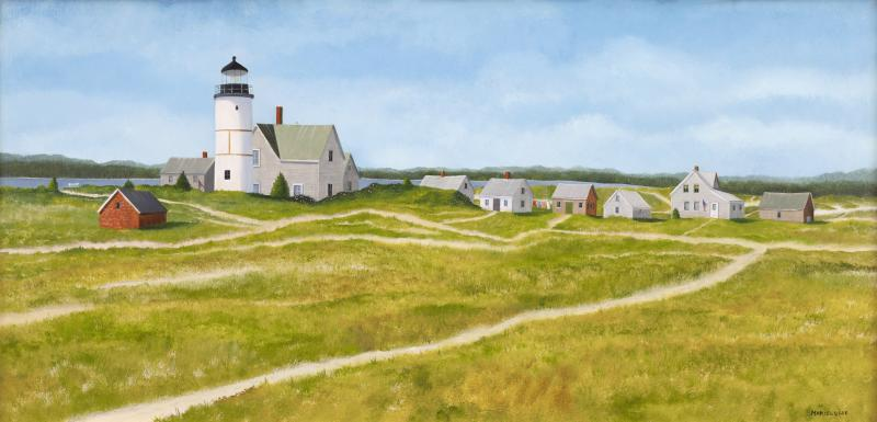 Sandy Neck Colony, oil on panel, 12 x 24 inches, $5,000