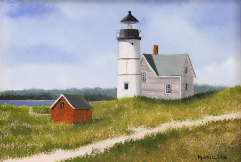 Sandy Neck Light, oil on panel, 5 x 7 inches, $1,200