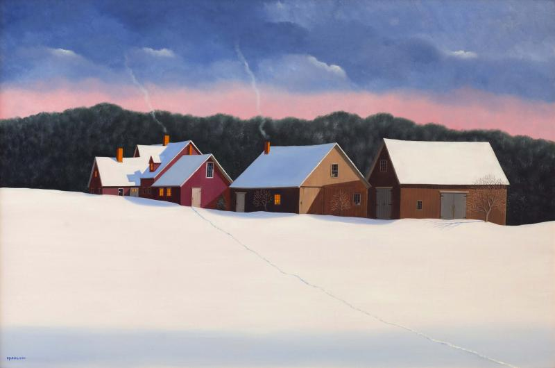 Rural Route 12, oil on panel, 24 x 36 inches  SOLD