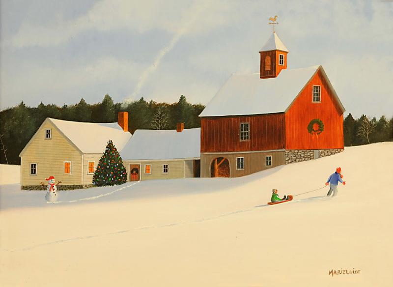 Christmas Vacation, oil on panel, 12 x 9 inches  SOLD