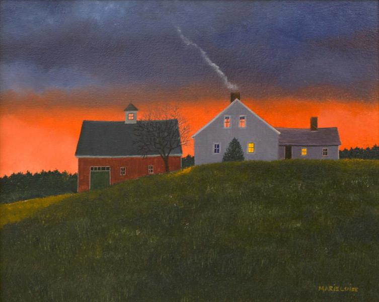 Dawn Comes Gently, oil on panel, 8 x 10 inches  SOLD