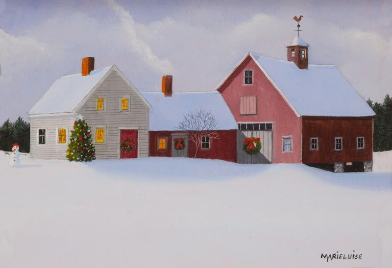 Greetings of the Season, oil on panel, 5 x 7 inches  SOLD