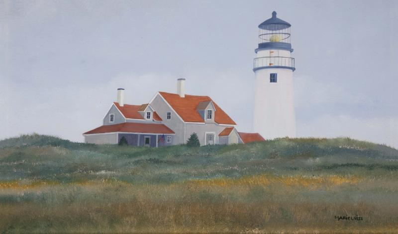 Haze at Highland Light, oil on panel, 8 x 13 inches  SOLD