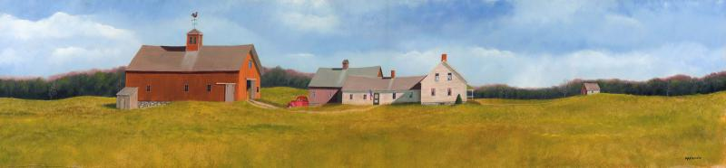 In One Era, Out the Other , oil on panel, 8 x 36 inches  SOLD