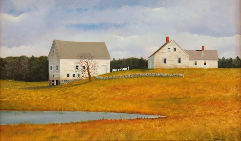 Line Dancing, oil on panel, 12 x 20 inches  SOLD