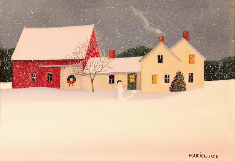 Winter's Surprise, oil on panel, 5 x 7  inches  SOLD