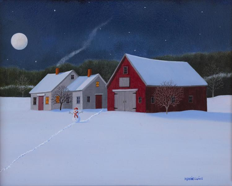 Moon and Star Shine, oil on panel, 8 x 10 inches  SOLD