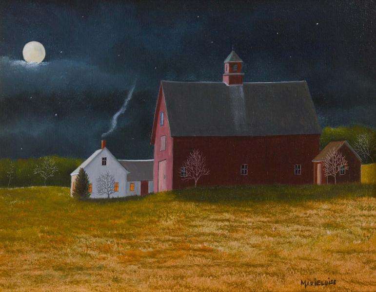 Moon Glow, oil on panel, 8 x 10 inches  SOLD