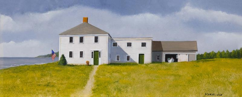Olde Cape Cod, oil on panel, 5 x 12 inches  SOLD