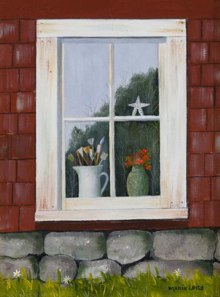 The Artist's Window, oil on panel, 6 x 8 inches  SOLD