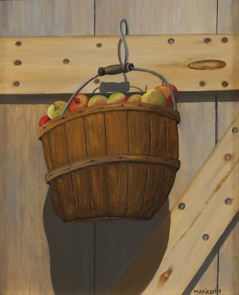 Ye Olde Apple Basket, oil on panel, 8 x 10 inches  SOLD