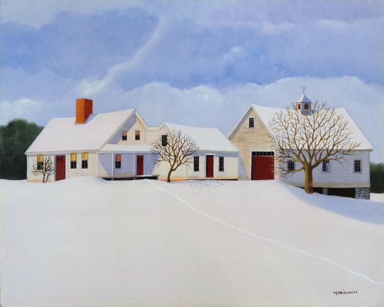 Northern Farm, oil on panel, 11 x 14 inches  SOLD