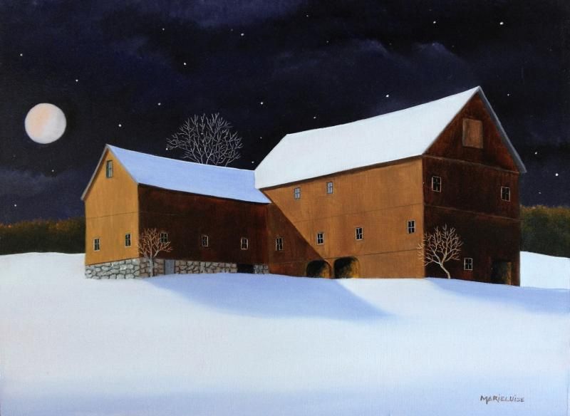 Snow Moon, oil on panel, 9 x 12 inches  SOLD