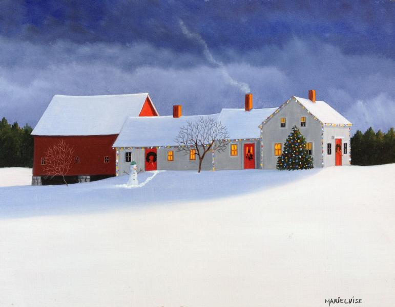 Celebrating Christmas II, oil on panel, 8 x 10 inches  SOLD
