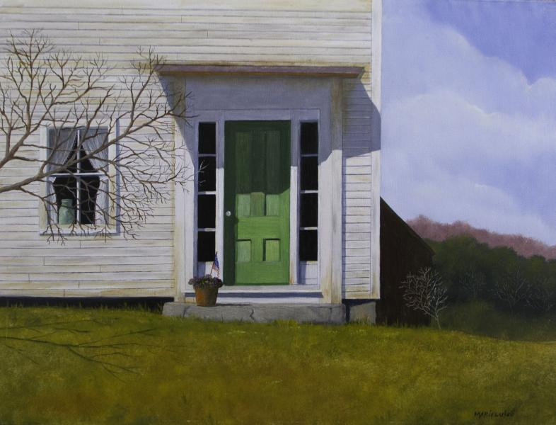 The Green Door, oil on panel, 12 x 16 inches   SOLD
