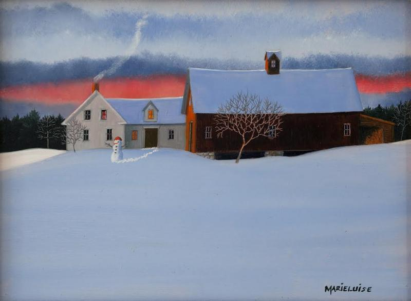 Taking on Winter, oil on panel, 6 x 8 inches  SOLD