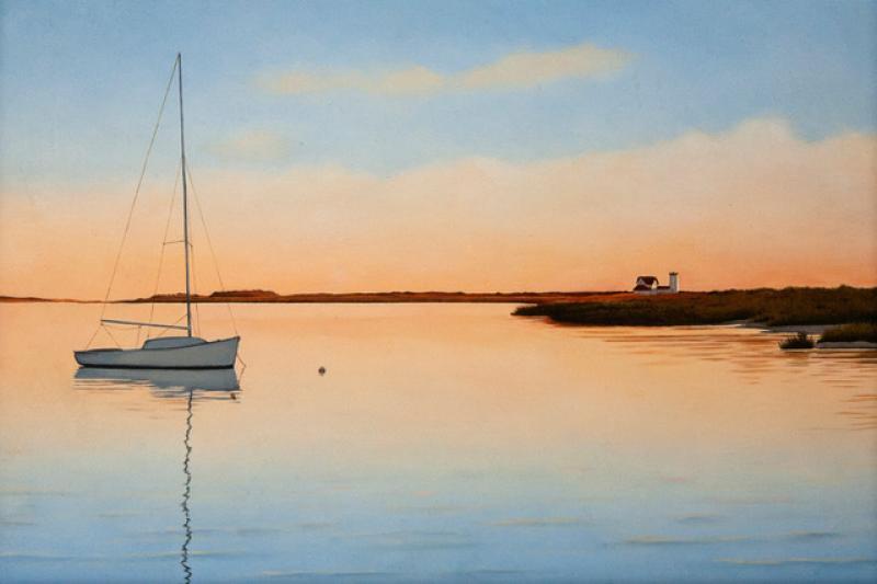 Harmonious Evening, oil on panel, 8 x 12 inches, $2,600