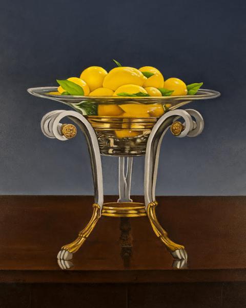 Lemon Delight, oil on panel, 10 x 8 inches, $2,400