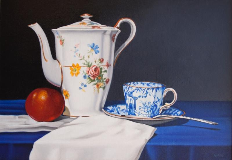 Teatime, oil on canvas, 10 x 14 inches  SOLD