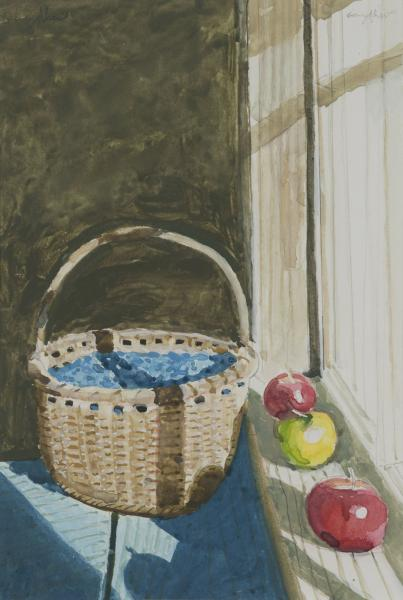Berry Basket, watercolor on paper, 5 1/4 x 7 3/4 inches, $1,800