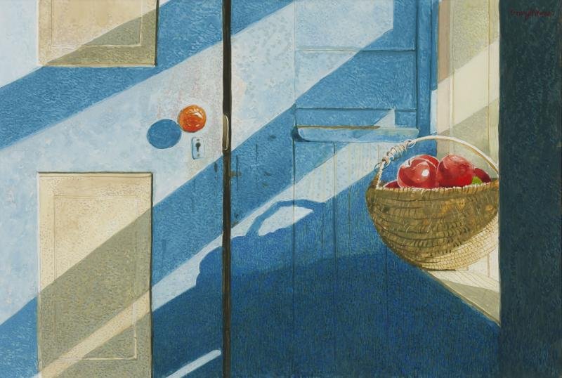 Borders Blues, drybrush watercolor on paper, 10 1/4 x 15 1/4 inches, $5,800