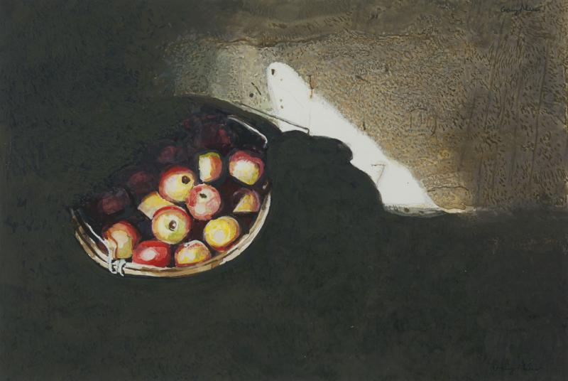 Cellar Light, egg tempera and watercolor on paper, 7 1/4 x 10 3/4 inches, $4,800
